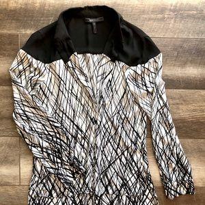 Woman long sleeve button up shirt